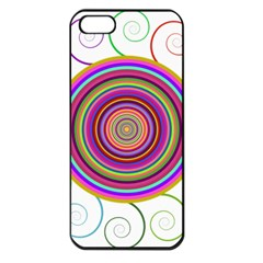 Abstract Spiral Circle Rainbow Color Apple Iphone 5 Seamless Case (black) by Alisyart