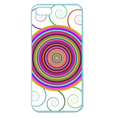 Abstract Spiral Circle Rainbow Color Apple Seamless Iphone 5 Case (color) by Alisyart