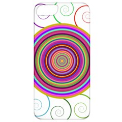 Abstract Spiral Circle Rainbow Color Apple Iphone 5 Classic Hardshell Case by Alisyart