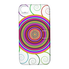 Abstract Spiral Circle Rainbow Color Apple Iphone 4/4s Hardshell Case With Stand by Alisyart