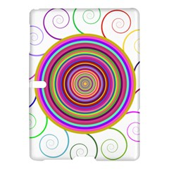 Abstract Spiral Circle Rainbow Color Samsung Galaxy Tab S (10 5 ) Hardshell Case  by Alisyart