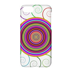 Abstract Spiral Circle Rainbow Color Apple Iphone 7 Hardshell Case by Alisyart