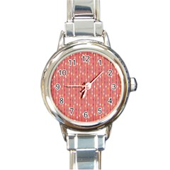Circle Red Freepapers Paper Round Italian Charm Watch by Alisyart