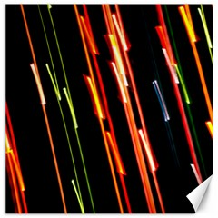 Colorful Diagonal Lights Lines Canvas 20  X 20   by Alisyart