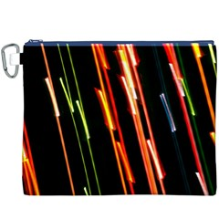 Colorful Diagonal Lights Lines Canvas Cosmetic Bag (xxxl) by Alisyart