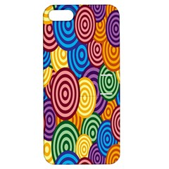 Circles Color Yellow Purple Blu Pink Orange Illusion Apple Iphone 5 Hardshell Case With Stand by Alisyart