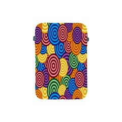 Circles Color Yellow Purple Blu Pink Orange Illusion Apple Ipad Mini Protective Soft Cases by Alisyart