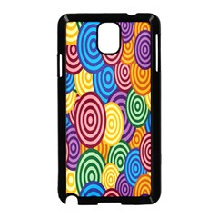Circles Color Yellow Purple Blu Pink Orange Illusion Samsung Galaxy Note 3 Neo Hardshell Case (black) by Alisyart