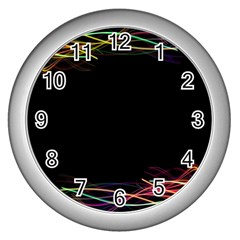 Colorful Light Frame Line Wall Clocks (silver)  by Alisyart