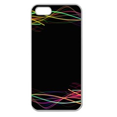 Colorful Light Frame Line Apple Seamless Iphone 5 Case (clear) by Alisyart