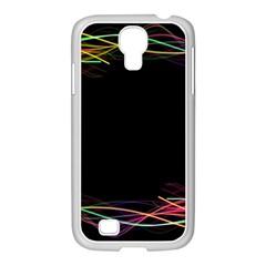 Colorful Light Frame Line Samsung Galaxy S4 I9500/ I9505 Case (white) by Alisyart