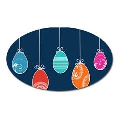 Easter Egg Balloon Pink Blue Red Orange Oval Magnet by Alisyart