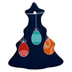 Easter Egg Balloon Pink Blue Red Orange Ornament (Christmas Tree)