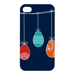 Easter Egg Balloon Pink Blue Red Orange Apple Iphone 4/4s Premium Hardshell Case by Alisyart