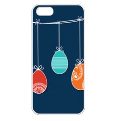 Easter Egg Balloon Pink Blue Red Orange Apple Iphone 5 Seamless Case (white) by Alisyart
