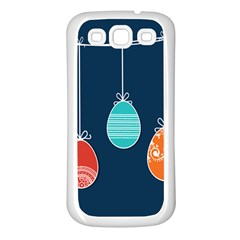 Easter Egg Balloon Pink Blue Red Orange Samsung Galaxy S3 Back Case (white) by Alisyart
