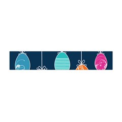 Easter Egg Balloon Pink Blue Red Orange Flano Scarf (mini) by Alisyart