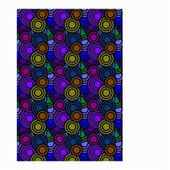 Circles Color Yellow Purple Blu Pink Orange Small Garden Flag (two Sides) by Alisyart