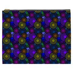 Circles Color Yellow Purple Blu Pink Orange Cosmetic Bag (xxxl)  by Alisyart