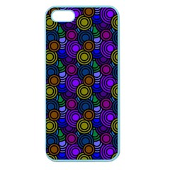 Circles Color Yellow Purple Blu Pink Orange Apple Seamless Iphone 5 Case (color) by Alisyart