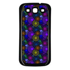 Circles Color Yellow Purple Blu Pink Orange Samsung Galaxy S3 Back Case (black) by Alisyart
