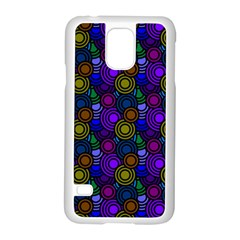 Circles Color Yellow Purple Blu Pink Orange Samsung Galaxy S5 Case (white) by Alisyart