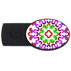 Decoration Red Blue Pink Purple Green Rainbow Usb Flash Drive Oval (2 Gb) by Alisyart