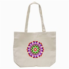 Decoration Red Blue Pink Purple Green Rainbow Tote Bag (cream) by Alisyart