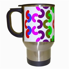 Decoration Red Blue Pink Purple Green Rainbow Travel Mugs (white) by Alisyart