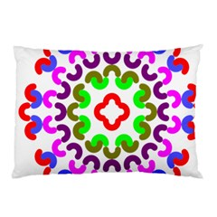 Decoration Red Blue Pink Purple Green Rainbow Pillow Case by Alisyart