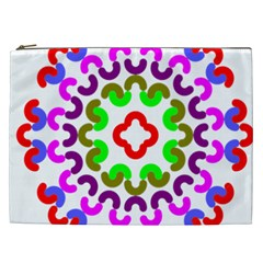 Decoration Red Blue Pink Purple Green Rainbow Cosmetic Bag (xxl)  by Alisyart