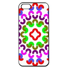 Decoration Red Blue Pink Purple Green Rainbow Apple Iphone 5 Seamless Case (black) by Alisyart