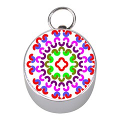 Decoration Red Blue Pink Purple Green Rainbow Mini Silver Compasses by Alisyart