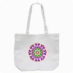 Decoration Red Blue Pink Purple Green Rainbow Tote Bag (white) by Alisyart