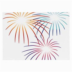 Fireworks Orange Blue Red Pink Purple Large Glasses Cloth by Alisyart