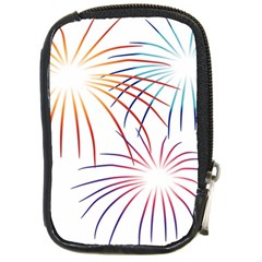 Fireworks Orange Blue Red Pink Purple Compact Camera Cases by Alisyart