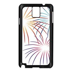 Fireworks Orange Blue Red Pink Purple Samsung Galaxy Note 3 N9005 Case (black) by Alisyart