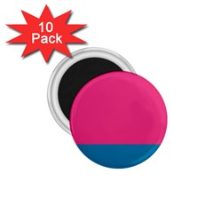 Flag Color Pink Blue 1 75  Magnets (10 Pack)  by Alisyart