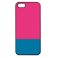 Flag Color Pink Blue Apple iPhone 5 Seamless Case (Black) by Alisyart