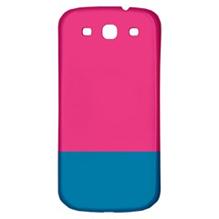 Flag Color Pink Blue Samsung Galaxy S3 S Iii Classic Hardshell Back Case by Alisyart