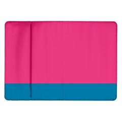 Flag Color Pink Blue Samsung Galaxy Tab 10 1  P7500 Flip Case by Alisyart