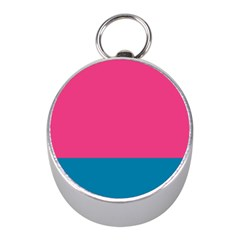 Flag Color Pink Blue Mini Silver Compasses by Alisyart