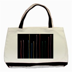 Falling Light Lines Color Pink Blue Yellow Basic Tote Bag by Alisyart