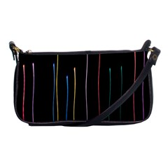 Falling Light Lines Color Pink Blue Yellow Shoulder Clutch Bags by Alisyart