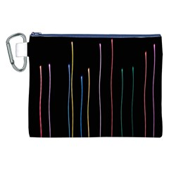 Falling Light Lines Color Pink Blue Yellow Canvas Cosmetic Bag (xxl) by Alisyart