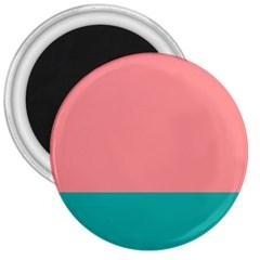 Flag Color Pink Blue Line 3  Magnets by Alisyart