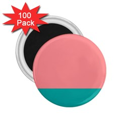Flag Color Pink Blue Line 2 25  Magnets (100 Pack)  by Alisyart