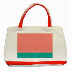 Flag Color Pink Blue Line Classic Tote Bag (red) by Alisyart