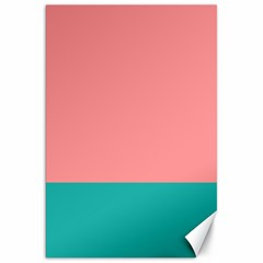 Flag Color Pink Blue Line Canvas 20  X 30   by Alisyart