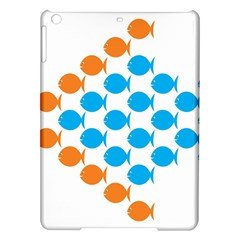 Fish Arrow Orange Blue Ipad Air Hardshell Cases by Alisyart